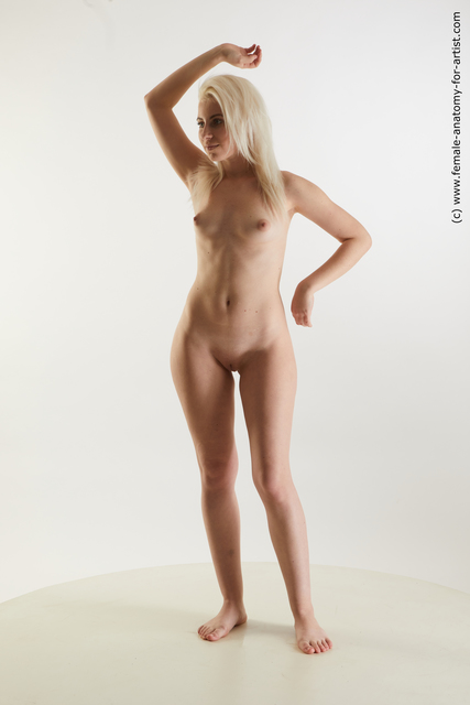 Nude Woman White Standing poses - ALL Slim medium blond Standing poses - simple Standard Photoshoot