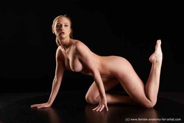 Nude Woman White Slim medium blond Standard Photoshoot