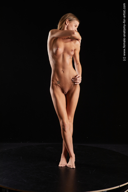 Nude Woman White Standing poses - ALL Underweight long brown Standing poses - simple Standard Photoshoot