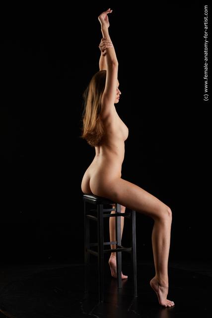 Nude Woman White Slim long brown Standard Photoshoot