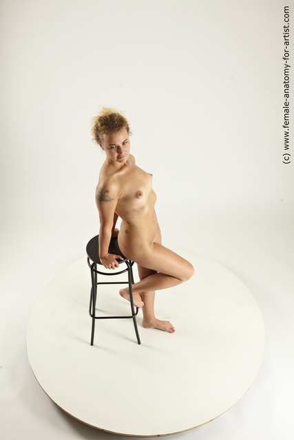 Nude Woman White Standing poses - ALL Slim medium blond Standing poses - simple Multi angle poses