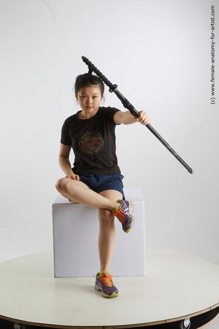 Sportswear Woman Asian Average medium black Standard Photoshoot