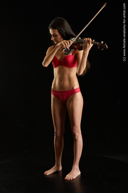 Underwear Woman Multiracial Standing poses - ALL Slim long black Standing poses - simple Standard Photoshoot