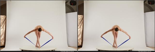 Nude Woman White Slim short brown Standard Photoshoot