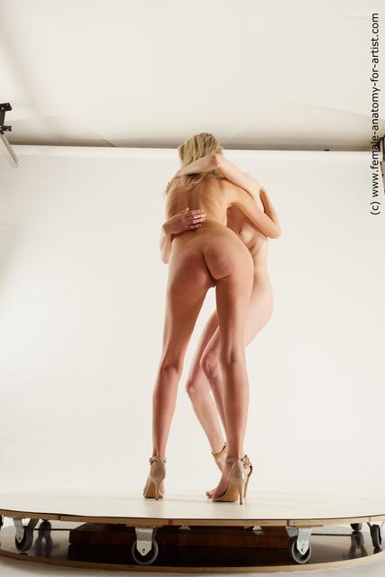 Nude Woman White Slim Multi angle poses