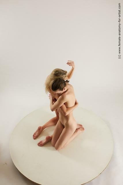 Nude Woman - Woman White Slim Multi angle poses