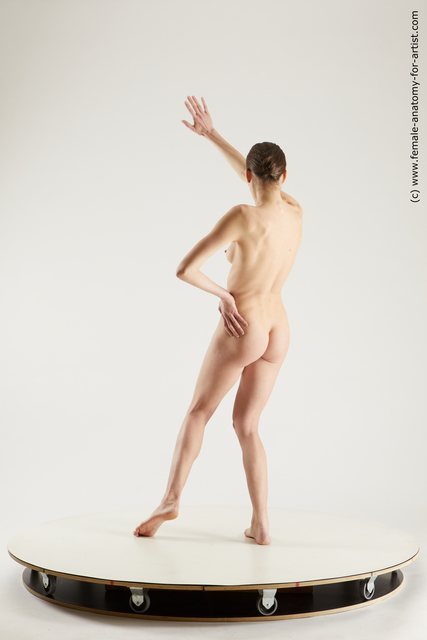 Nude Woman White Standing poses - ALL Slim medium brown Standing poses - simple Multi angle poses