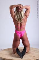 Photo Reference of alana kneeling pose 05