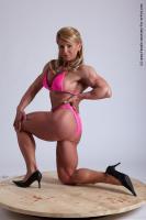 Photo Reference of alana kneeling pose 09