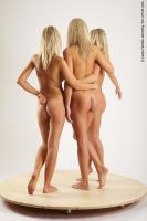 Photo Reference of 3women standing pose 28