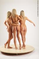 Photo Reference of 3women standing pose 29