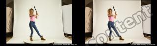Photo Reference of stereoscopic shenika pose 625