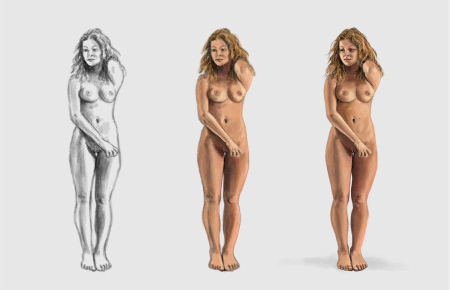 Nude body rate parts show